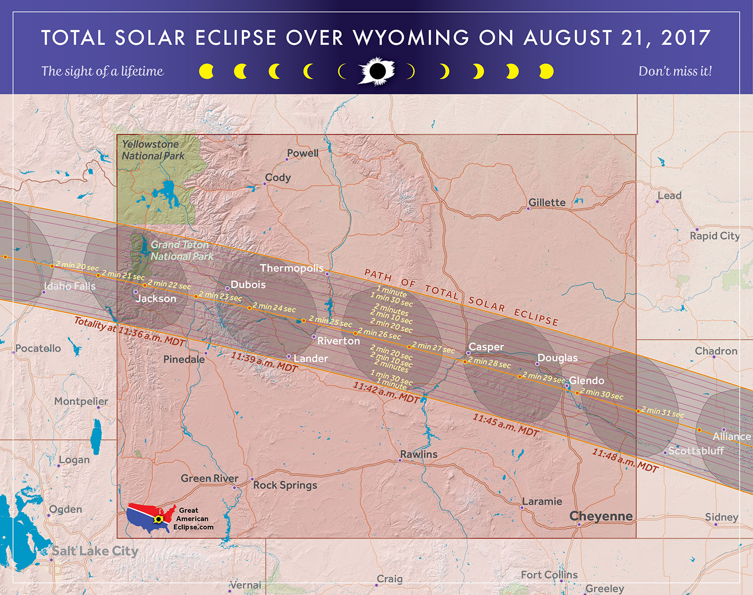 Total Solar Eclipse In Wyoming - Map of northern wyoming